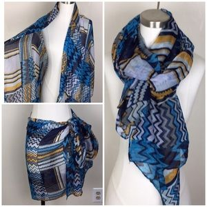 Accessories - NWOT Multi-Use Sheer Scarf Coverup